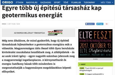 TÁRSASHÁZMEGÚJULÓ ENERGIAGEOTERMIKUS ENERGIAENERGIA
