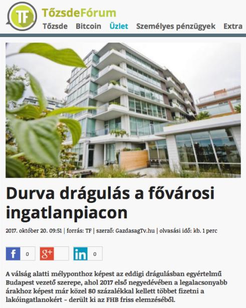 Durva drágulás a fővárosi ingatlanpiacon