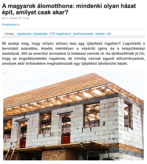 A magyarok álomotthona: mindenki olyan házat épít, amilyet csak akar?